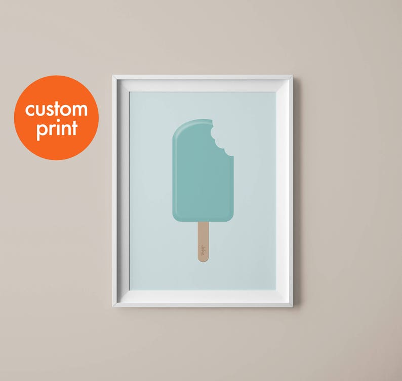 Personalised name print // ice lolly // custom names // birthday gift