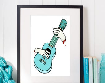 Ukulele Wall Art-Printable Digital Download-