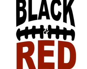 Black and Red Football SVG