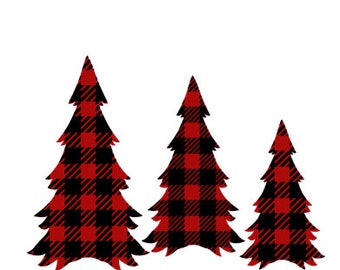 buffalo plaid christmas trees svg - Plaid Christmas Tree