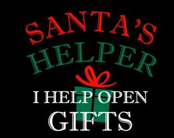 Santa's Helper Christmas Gift SVG