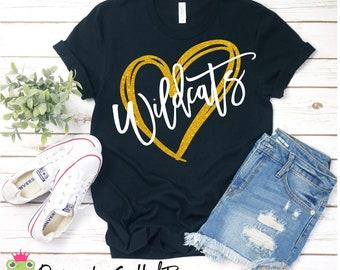 Wildcats Heart SVG/PNG