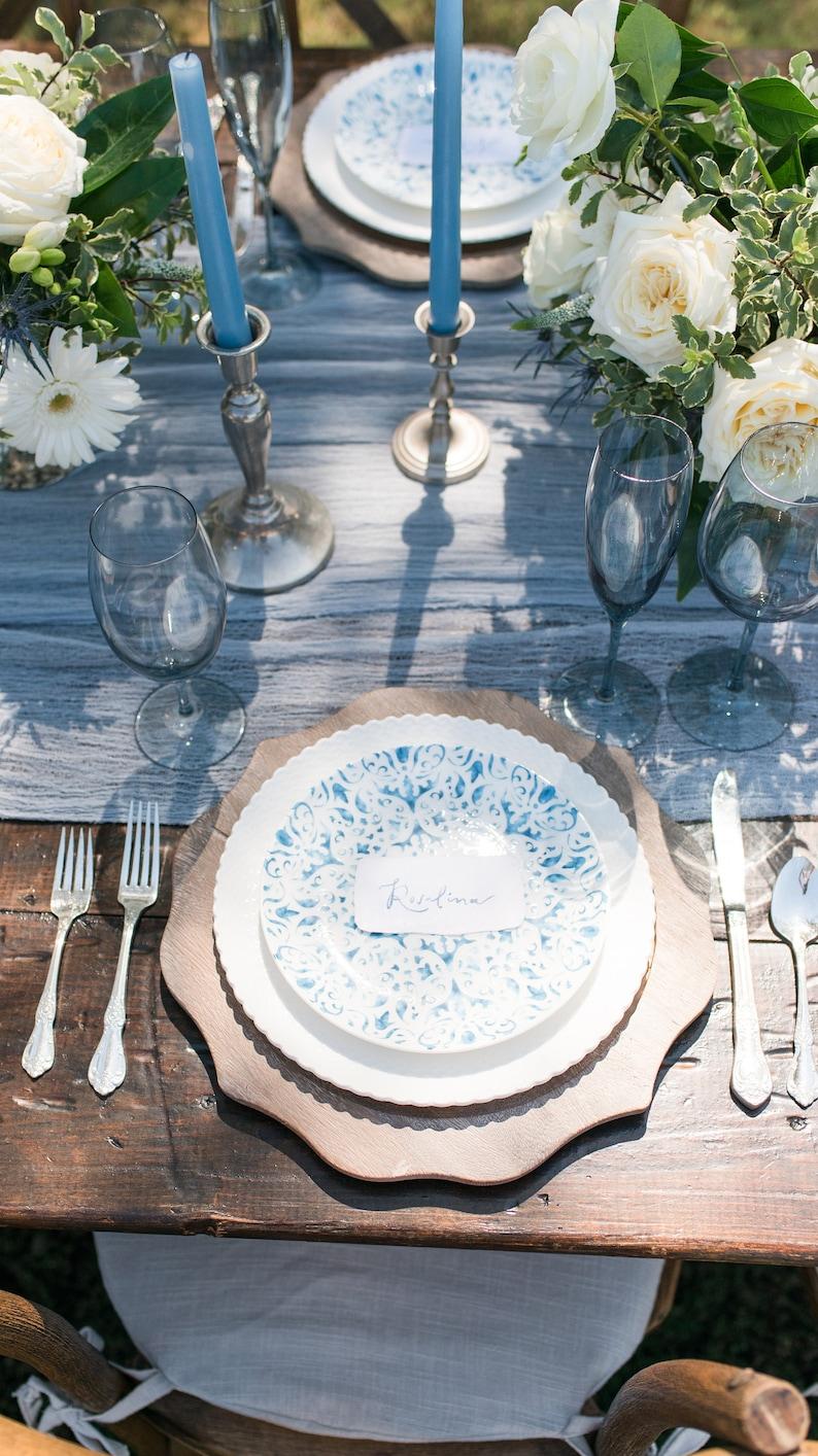 Tischläufer hellblau Hochzeit