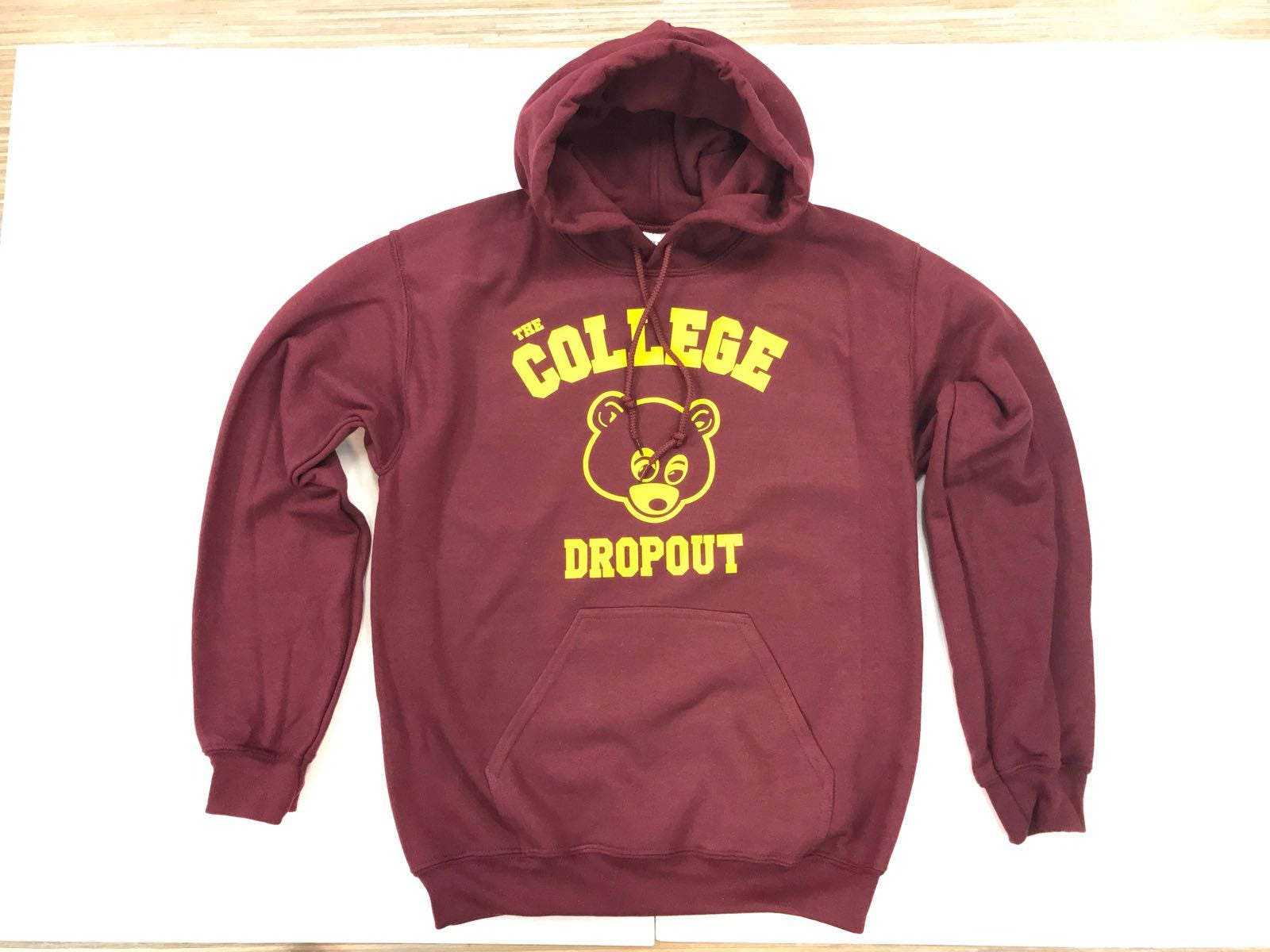 The College Dropout Hoodie Dropout Pullover Yeezus Hood Etsy
