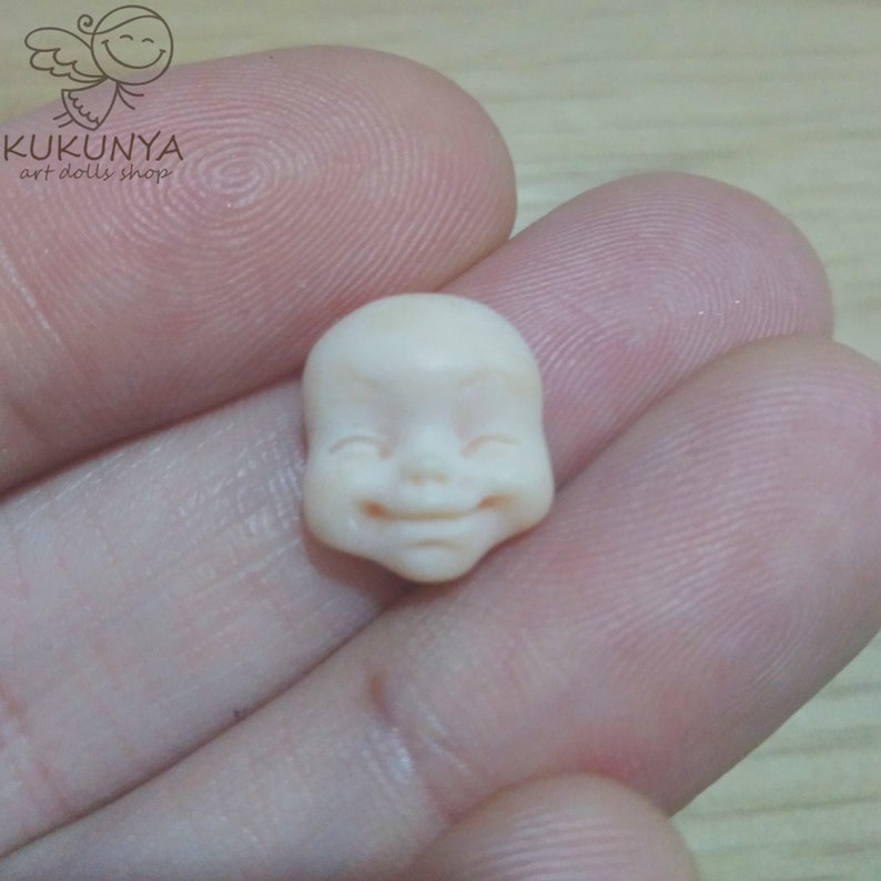 Polymer Clay Face for Doll Making #30