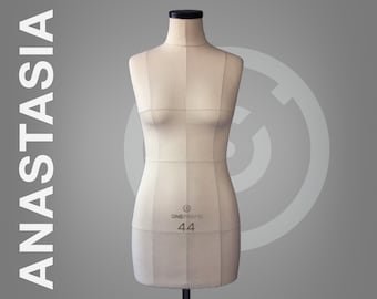 ANASTASIA // Soft tailor dummy | Professional anatomic mannequin torso for sewing & fashion design | Pinnable dress form with optional stand