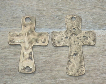 Stainless Steel Antiqued /& Polished Crucifix Necklace 45x32mm 24 Inches