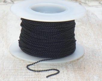 1mm Ball Chain Black Nite