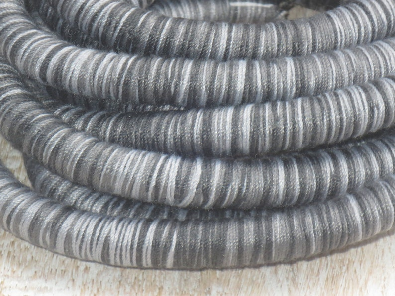 Cotton Cord 3 Meters Knitted Cord 10mm Knitted Round Woven Cotton Cord in Black