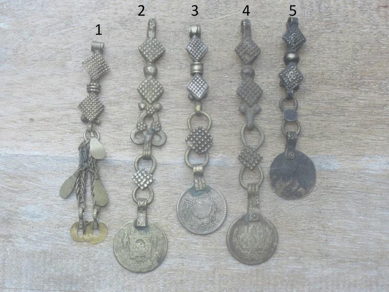 Afgani Charm Afghan Kuchi Charm Coin Dangle Pendant Vintage Kuchi Dangle Metal Pendant