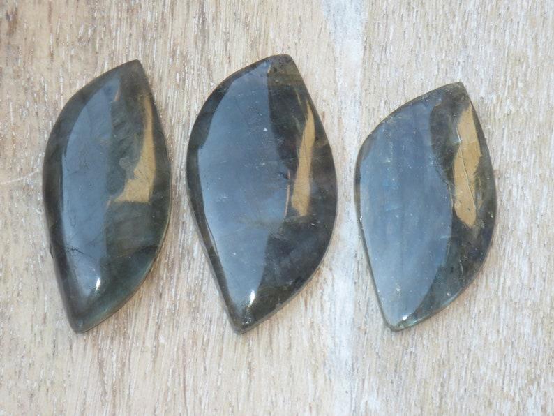 Labradorite Gemstone Double Point Cabochon Teardrop
