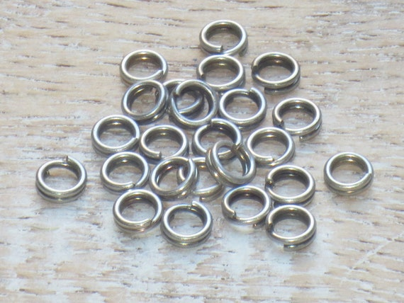 Silver Plated Iron Round Open Jump Rings 0.7 x 6mm HA11830 Packet 400