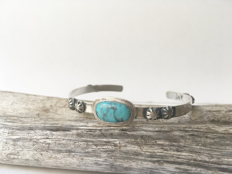 Sterling silver bracelet with Turquoise Amerciana Sterling Silver /& Turquoise bracelet/_Sterling Silver handmade