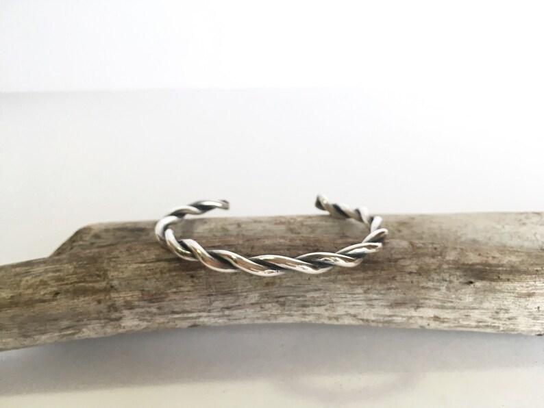 Handmade sterling silver Braided Bracelet Handmade Sterling Silver Twisty Bracelet