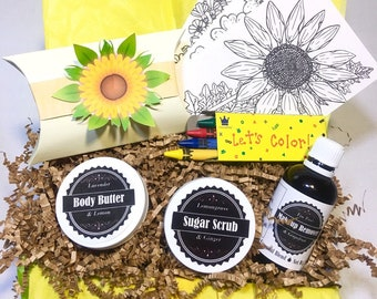 Sunflower Self Care Package *Limited Quantity* A Gift You Can Send to Anyone, Anywhere, Anytime!