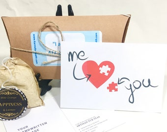 Long Distance Gift - Missing a Piece of Me: Girlfriend Care Package, Girlfriend Gift