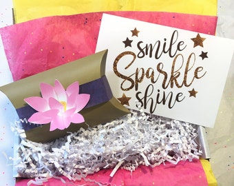Smile, Sparkle, Shine Self Care Package *Limited Quantity* A Gift You Can Send to Anyone, Anywhere, Anytime!