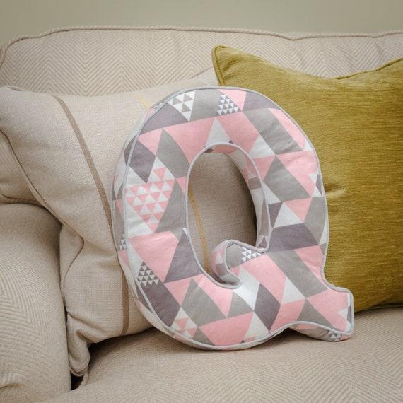Letter Cushion Pink RLetter Pillow Pink RInitial Cushion Alphabet Cushion