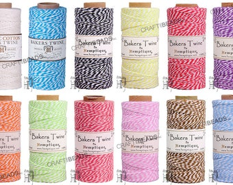 1MM Bakers Twine 100% Cotton 2 Ply Hemptique Macrame Craft Artisan String - 410ft Spool