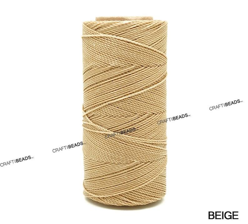 c0fb7e58d151 0.5MM Waxed Polyester Linhasita Cord Macrame Friendship Bracelet Thread  Leather Works Knotting Artisan String - 368yards Spool