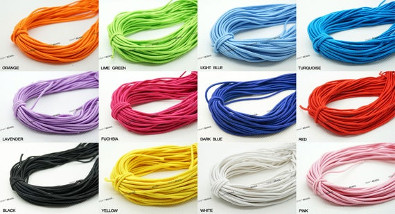 10 Yds  Doll Stringing Elastic Bungee Cord 3MM And 10 Yards 4MM 20 Yards Total