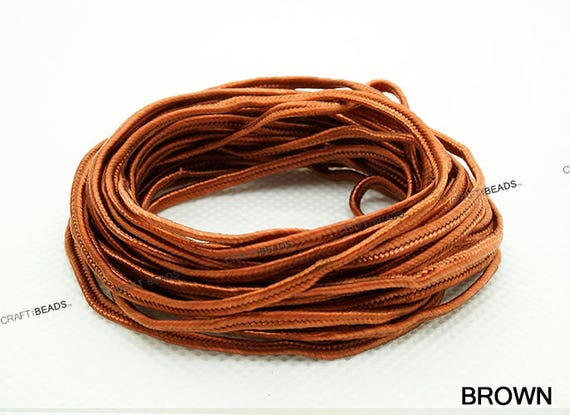 30 Yards ORANGE 3mm Polyester Soutache Braid Cord String Beading Sewing Quilting Trimming