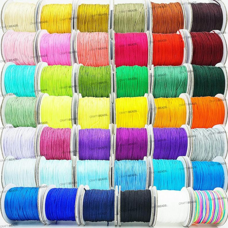 0.8MM Chinese Knot Nylon Cord Shamballa Macrame Beading image 0