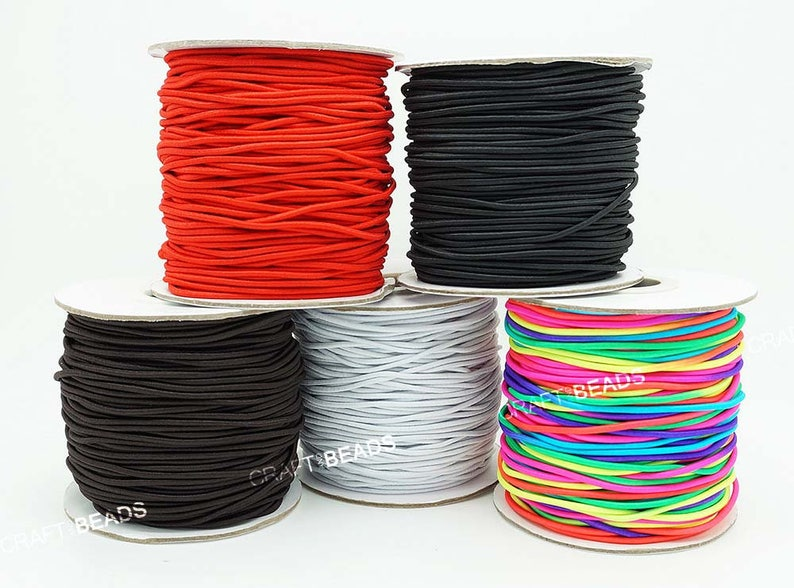 2mm Elastic Bands Black Round Cord Shoes Dress Skirt Sewing Arts /& Crafts Work