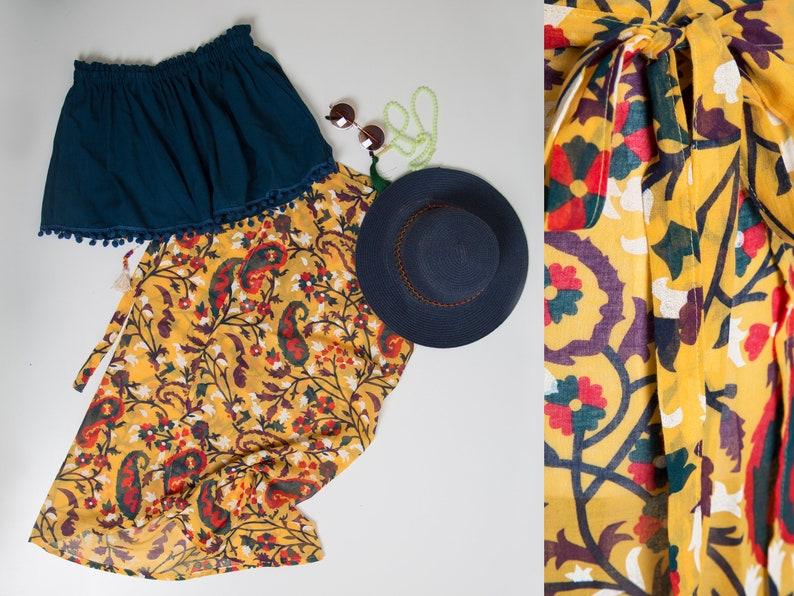 Strapless top bohemian skirt boho design Skirt skirt for women pareo skirt,summer skirt beach dress beach top,summer dress,boho dress