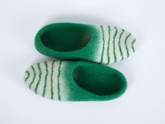 junior clogs slippers felt clogs slippers felt felted green girl slippers Felted slippers natural Wool wool boys slippers slippers FpxUq7F