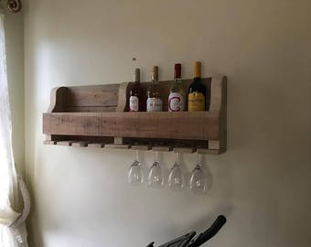 Wall Wine Rack Etsy