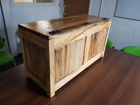 Rustic Wooden Blanket Toy Quilt Nursery Storage Box Trunk Chest Made From Reclaimed Hard Wood Individually Unique