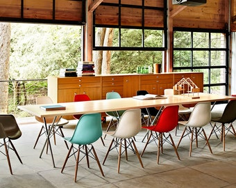 Retro Vintage Modern Designer DSW Plastic Dining Chair Eiffel Style - 9 Colours Available