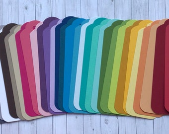 30 Blank Colored Bookmarks and Ribbons - PICK YOUR COLORS!