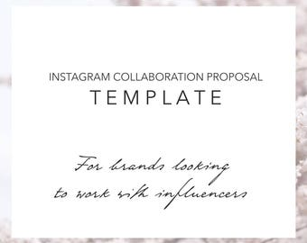 Email Template Instagram Collaboration Proposal Travel Etsy