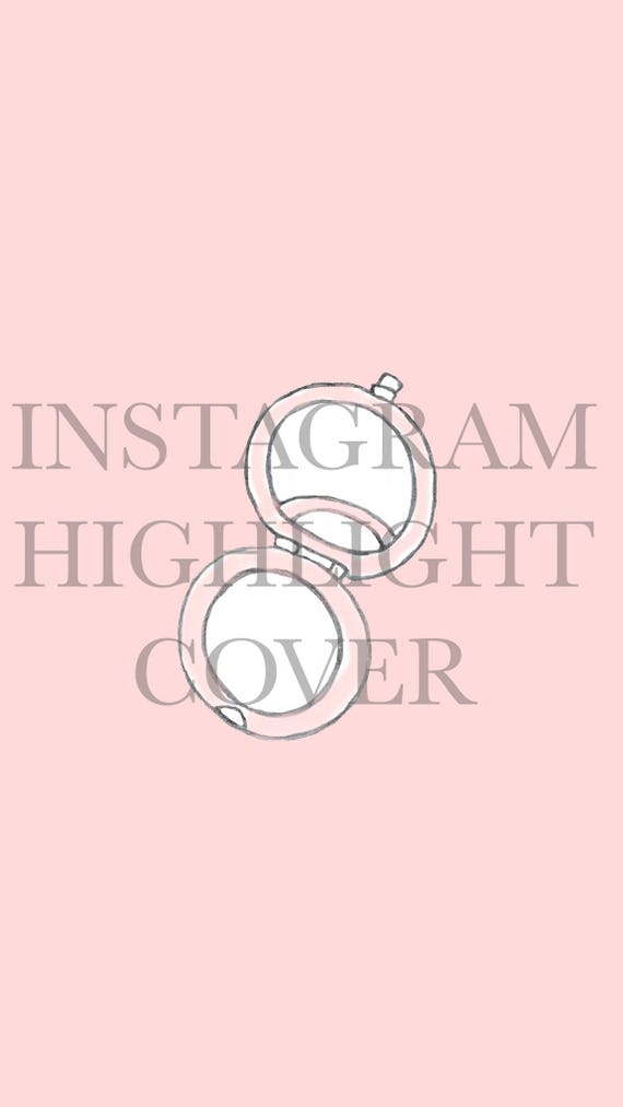 Pink Handheld Mirror Icon Instagram Highlight Cover