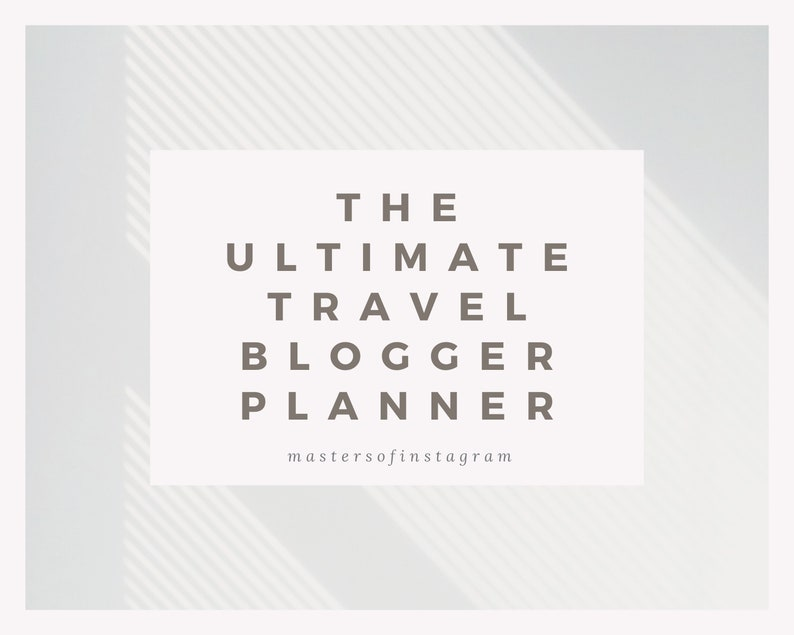 Ultimate Travel Blogger Planner Digital Travel Journal image 0