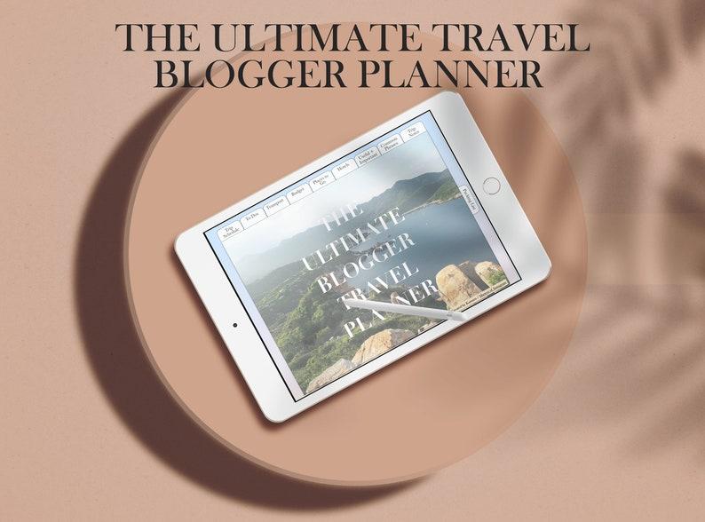 Ultimate Travel Blogger Planner Digital Travel Journal image 0