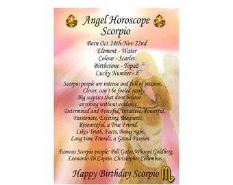 Items similar to Personalized zodiac card: Aries, Taurus