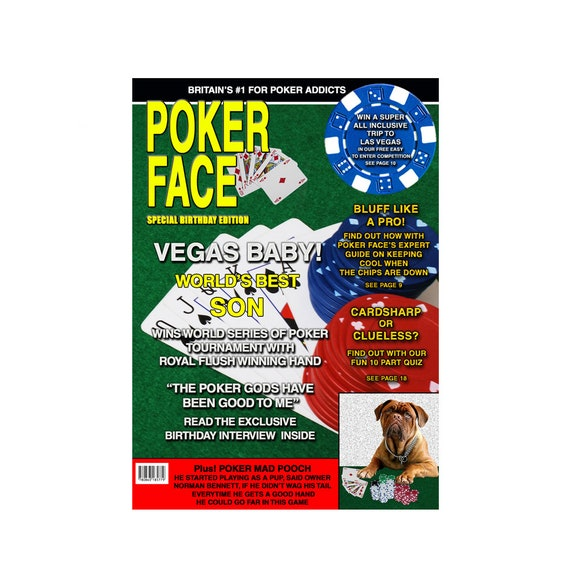 Mens Poker Las Vegas Birthday Card Magazine Spoof Dad