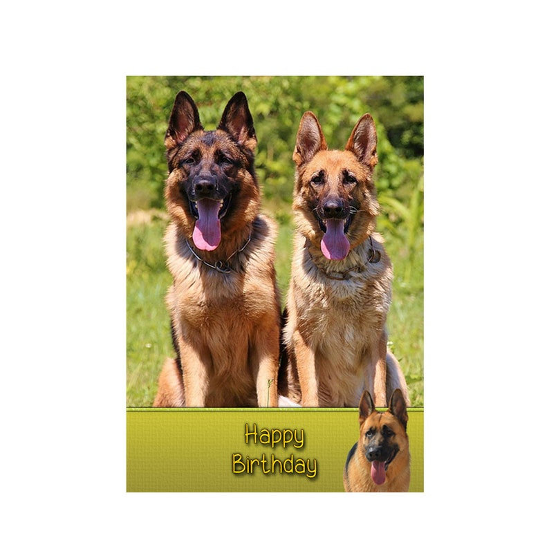Personalised German Shepherd Dog Birthday Greeting Card