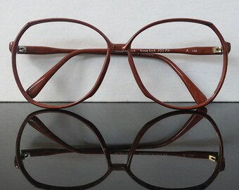 a43d364790 Women eyeglasses   oversized glasses   brown color   Rodenstock   vintage  1990s eyewear   Made in Germany   NOS