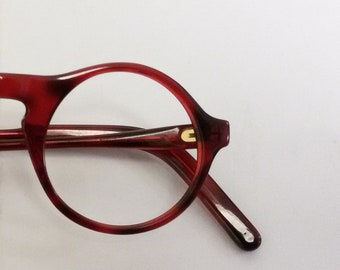 Round eyeglasses / vintage 1980s eyewear / made in Germany / NOS /