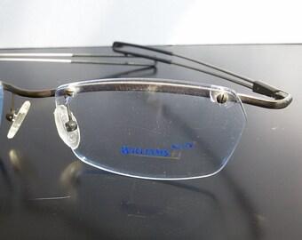 4f2e7483a91a Rimless eyeglasses / men eyewear / sport eyeglasses / designer eyeglasses /  unisex eyeglasses / Williams / vintage 2000's eyewear / NOS /