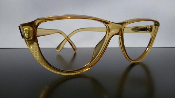 9fe070344d cateye glasses   Christian Dior   women eyeglasses   yellowish