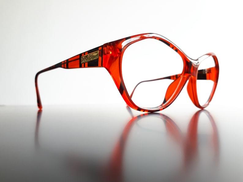 Paloma Picasso 3704 NEW old stock women eyeglasses designer oversize red transculent 90s vintage glasses free shipping nos neu Brille
