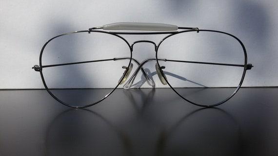 Men eyeglasses / aviator glasses / silver colored