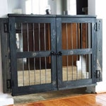 Dog Gate, Dog furniture, Room divider, Rustic baby gate