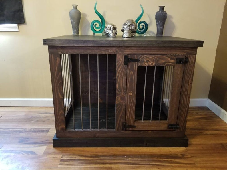 Medium Dog kennel furniture Pet furniture Rustic console image 0