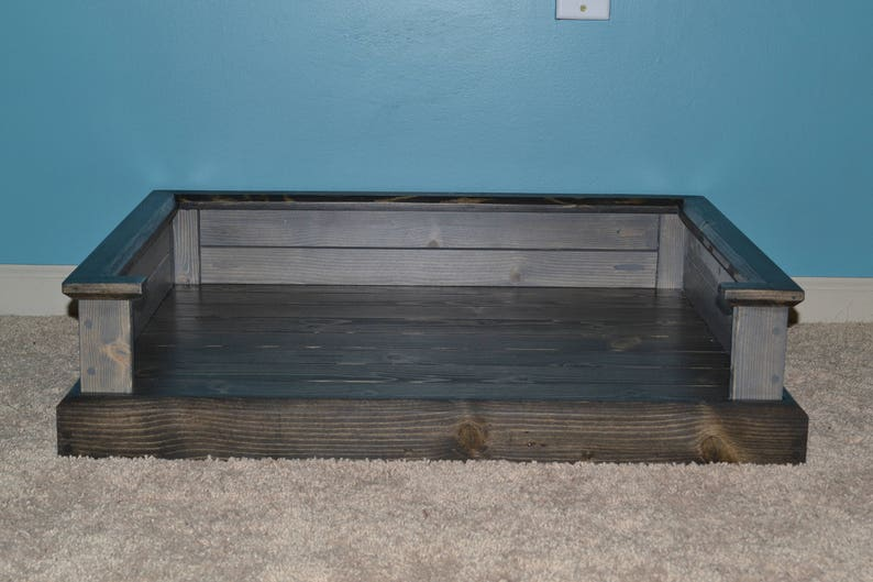 Custom wooden dog bed furniture image 0